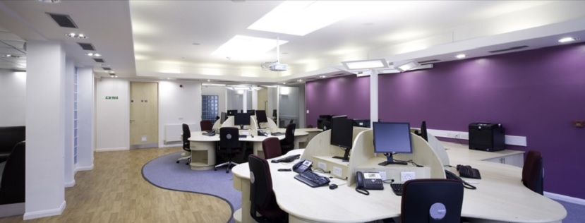 BRC Nucleus office with empty desks