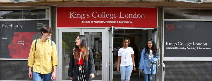 People leaving Denmark Hill Campus